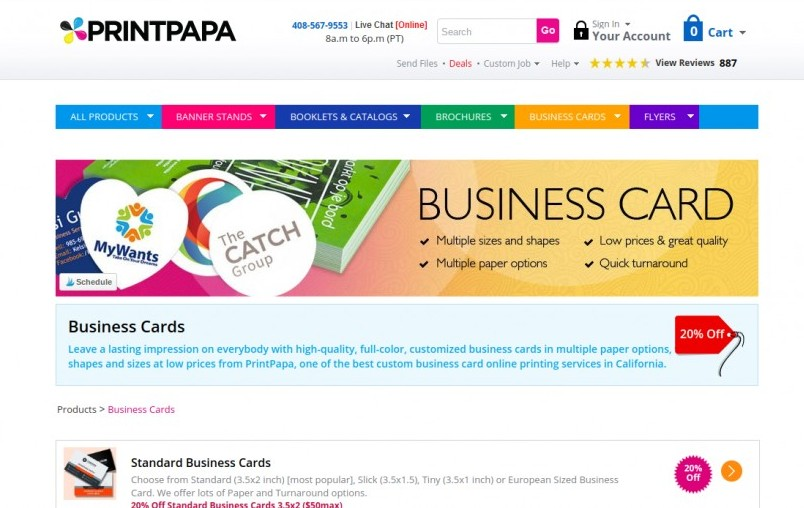best places to buy business cards online