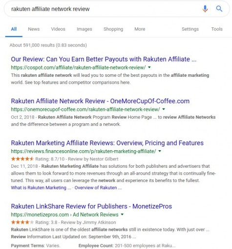 rakuten affiliate network reviews