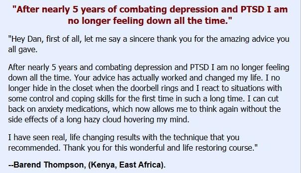 Testimonial One - Depression Free Method