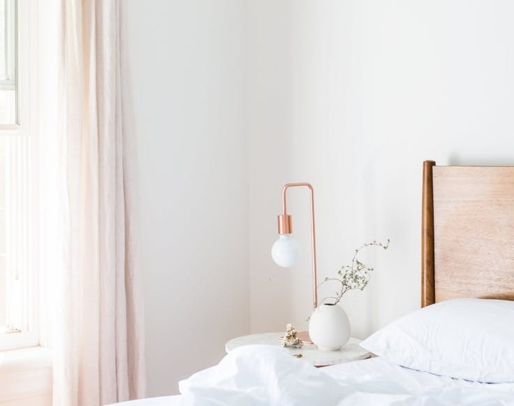A Very white bedroom - Top Tips For A Good Nights Sleep