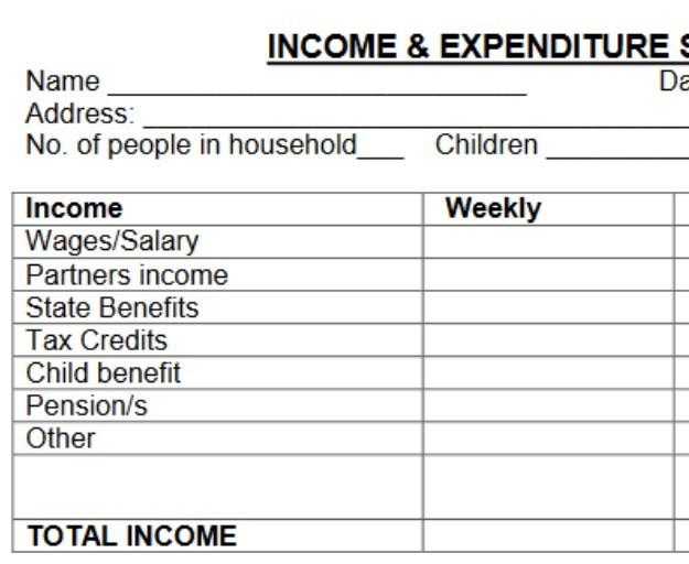 Free Income And Expenditure Template » Boost Your Wage