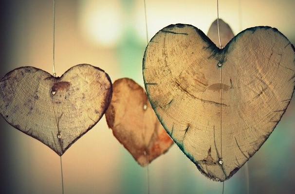 Love the wood hearts