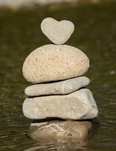 pile of love rocks