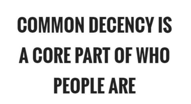 Common decency