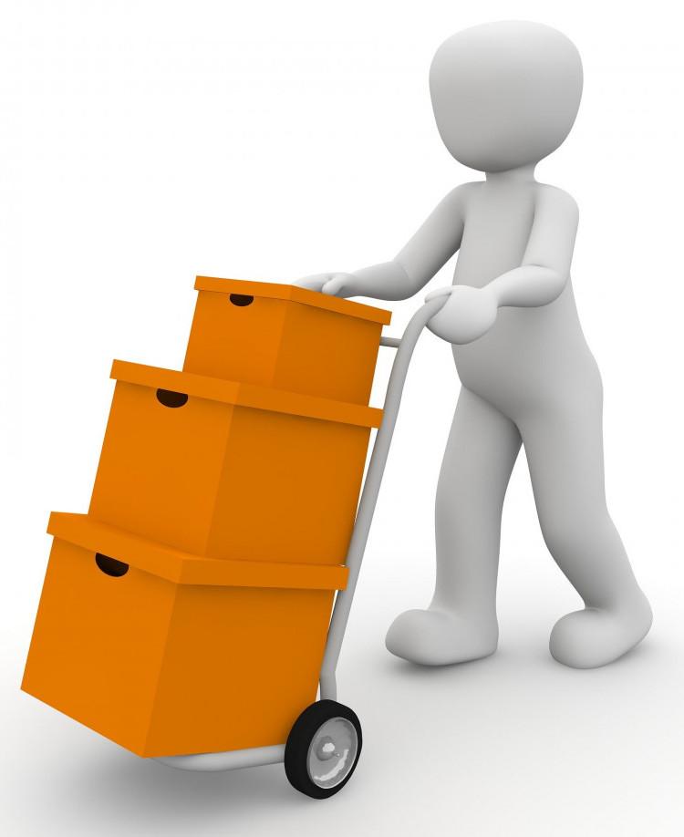 man delivering boxes