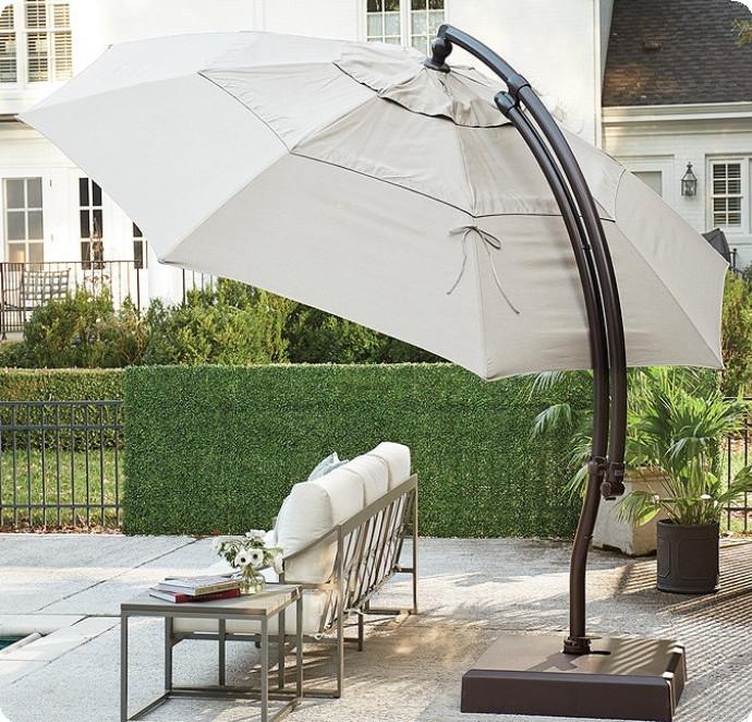 13' Octagon Cantilever Umbrella with Base