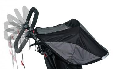 adjustable handlebar on BOB Double Stroller