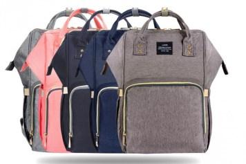 HaloVa Diaper Bag Multi-Function Waterproof Travel Backpack f9cf7c09b9ace
