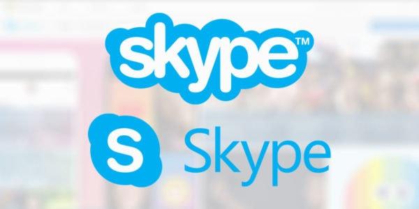 O skype também adotou um logo minimalista ao modificar todo o seu app.