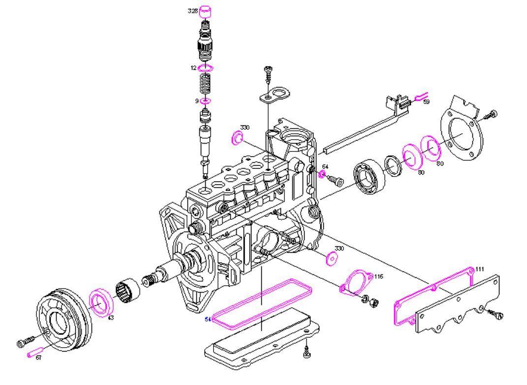 Boschsel Pump Repair Kit Seals Mercedes 300d E300 E300td 3 0d 3 0td Om603