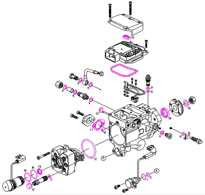 Boschsel Fuel Pump Repair Kit Seals Kit Ford Transit 2