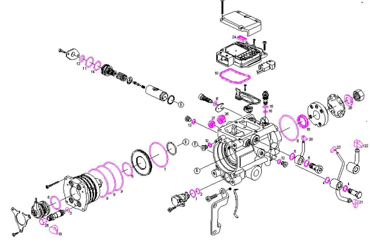 Sel Fuel Pump Repair Kit Seals Kit Gaskets Kit Bmw 320d 520d M47 204d1 M47d20
