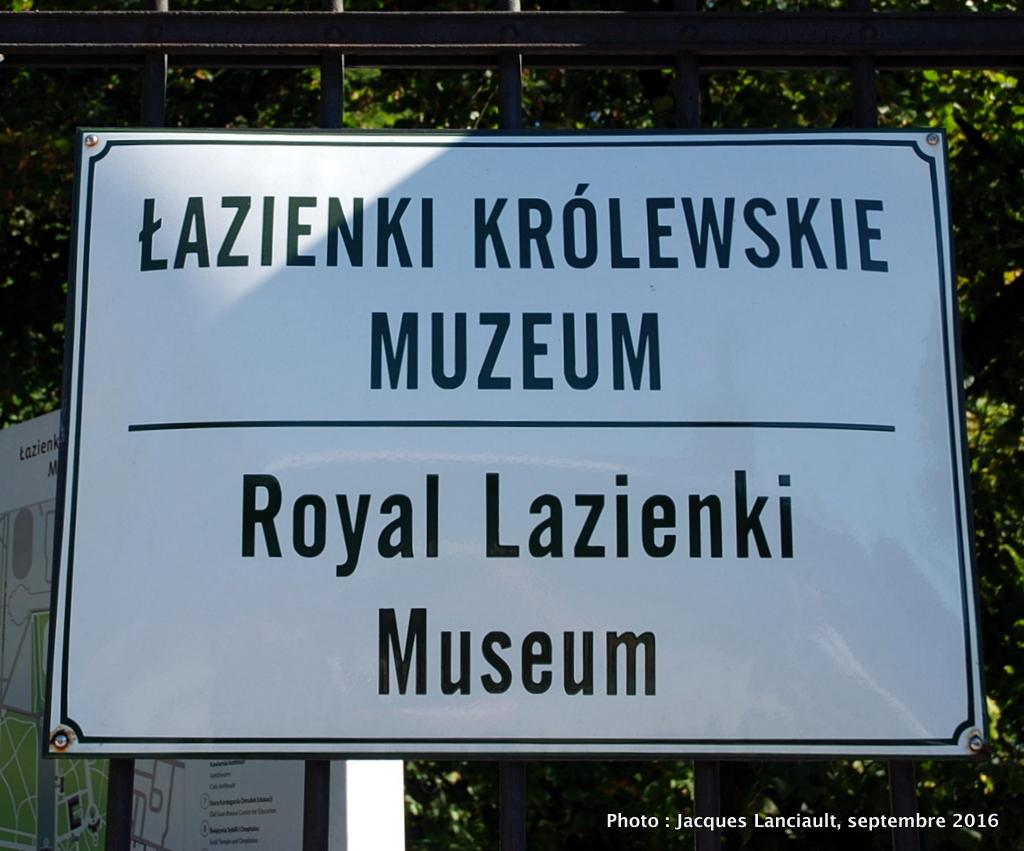 Varsovie Le Parc Łazienki Et Son Superbe Monument  Frédéric