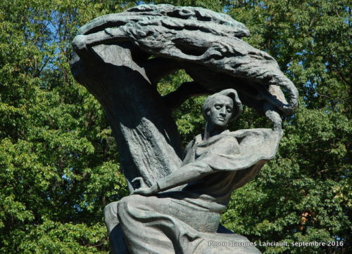 Monument Frédéric Chopin, parc Łazienki, Varsovie, Pologne