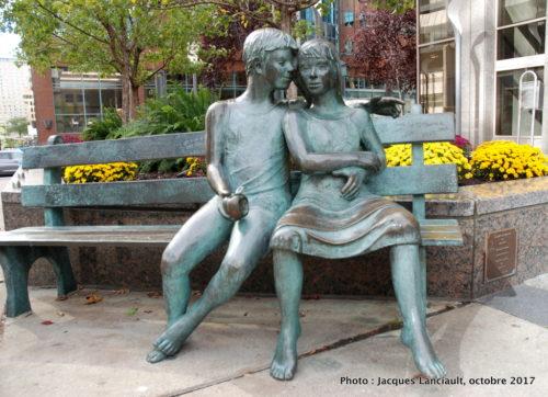 Le banc du secret, Montréal, Québec