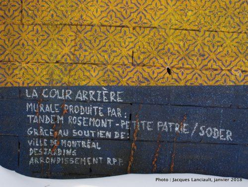 La cour arrière, Montréal, Québec