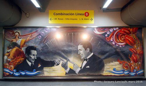 Subte Corrientes, Buenos Aires, Argentine