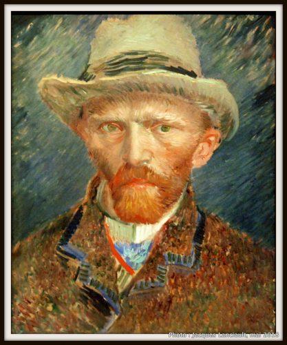 Auto-portrait de Vincent Van Gogh, Rijksmuseum, Amsterdam, Pays-Bas