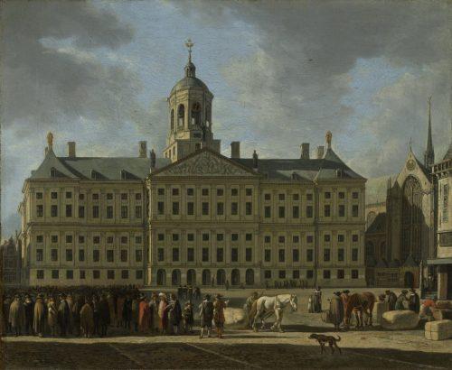 La Mairie sur la place du Dam, Amsterdam, Pays-Bas
