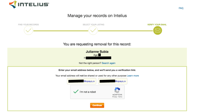 remove yourself from easybackgroundchecks intelius opt out removal
