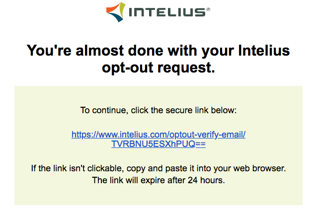 remove yourself from intelius opt out removal