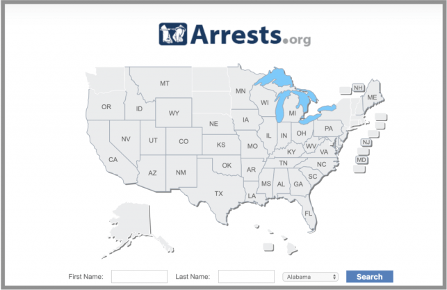 how to remove yourself from arrests.org opt out removal