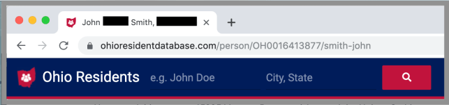Remove Yourself from Ohio Resident Database opt out removal