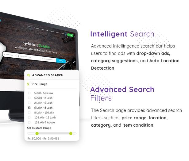 Classified Advanced Search bar