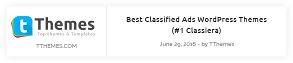 Classiera Featured On tthemes.com
