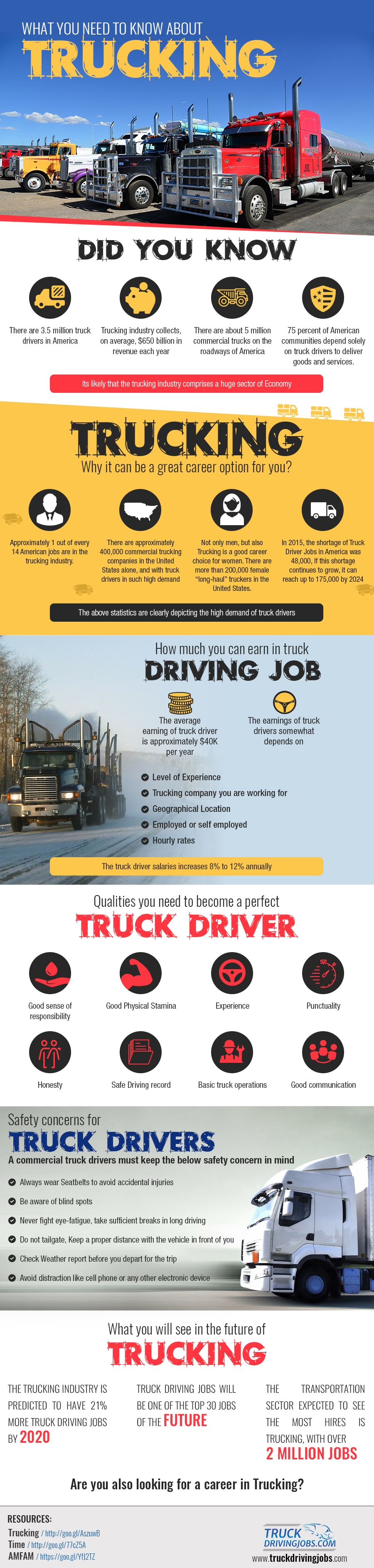 What You Need to Know About Trucking Infographic