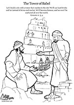tower of babel coloring pages # 57