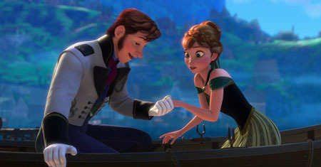 Anna meets handsome prince Hans