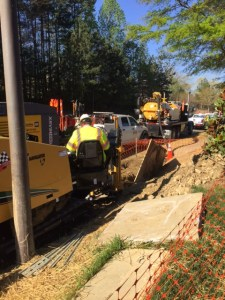 Vacuum Excavation on a Fiber Project in Charlotte, N.C.