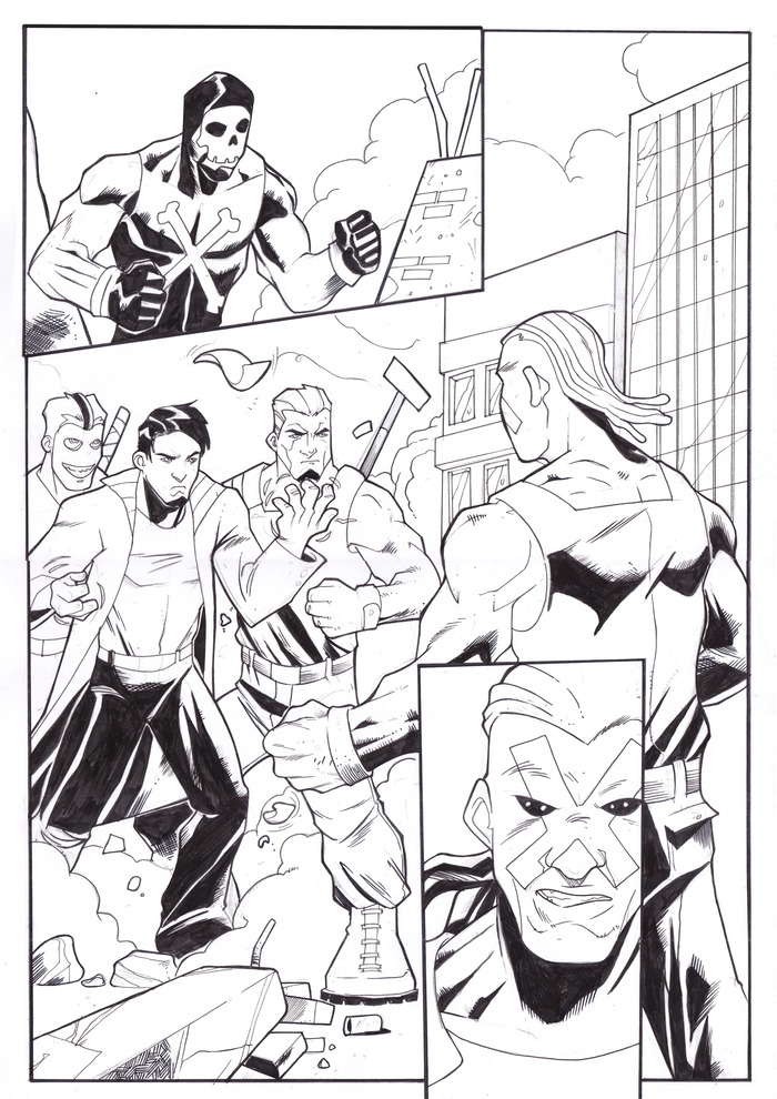 Page 1 inks by Chandra P. Kelly