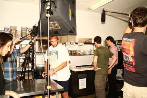on the set!