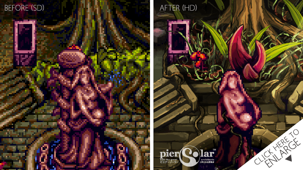Splendid visual with a blend of pixel art for a unique style.