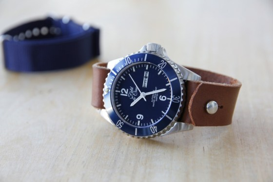 Heritage Watch with Brown Leather Stud Band (Made of Horween Leather)
