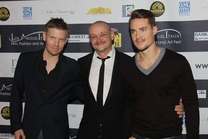 "Hunter Lee Hughes, Marco Puccioni and Alexander Dreymon at ""Like the Wind"" screening"