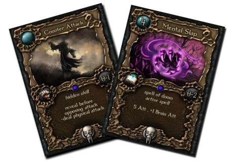 Counter Attack skill card and Metal Slap spell card