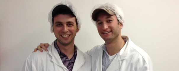 Jacob (L) and Bryan (R), Viter Energy co-founders at the mint factory