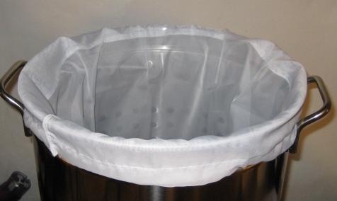 Mesh Bag Installed on Kettle