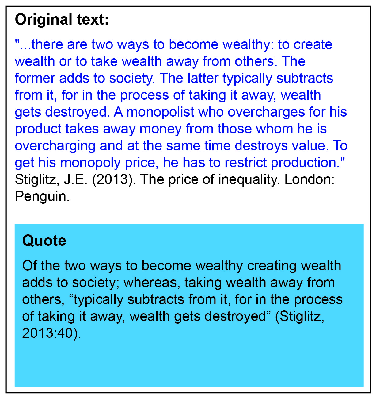 Example Of Quoting