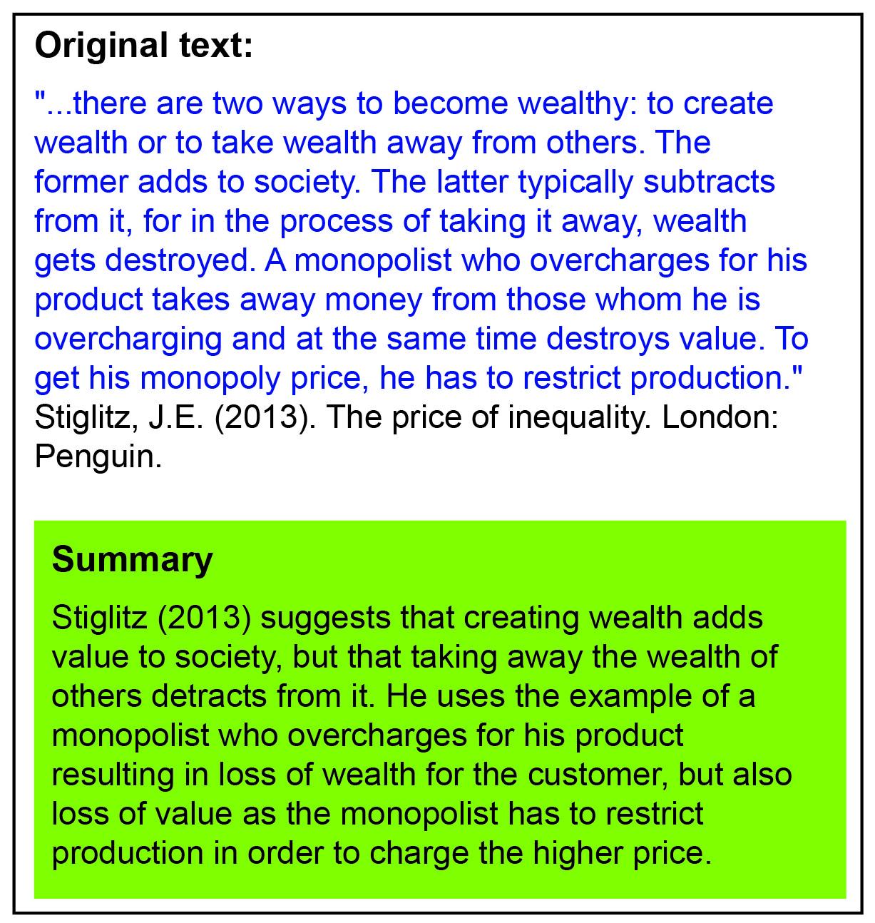 Example Of Summary