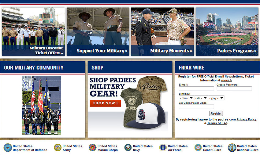 Padres military gear