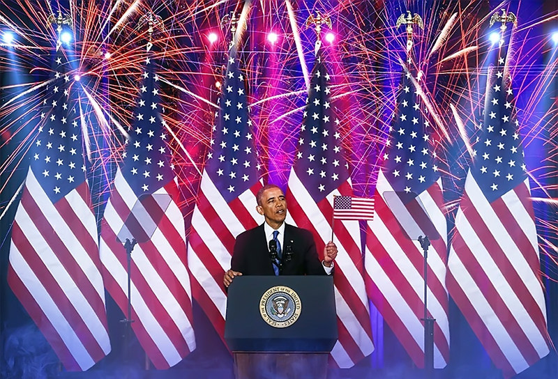 Obama fireworks USA #1