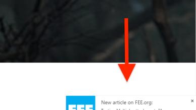 push notification screenshot