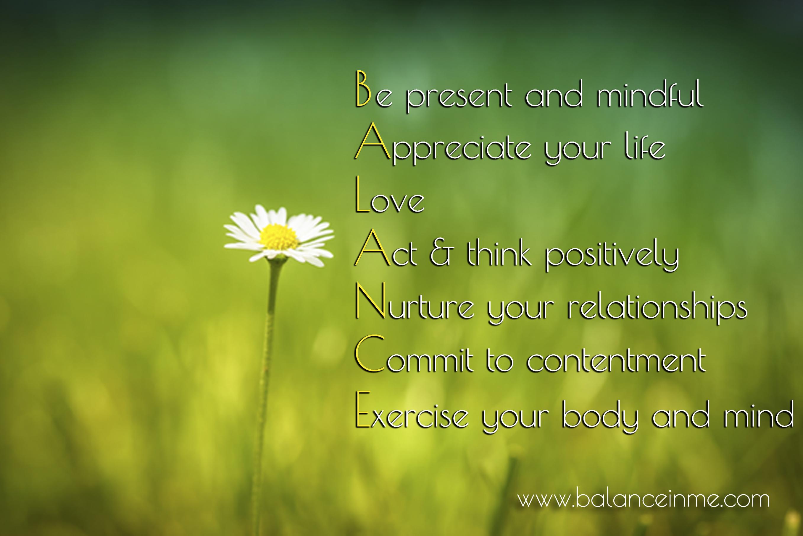 Living A Balanced Life Quotes Quotesgram