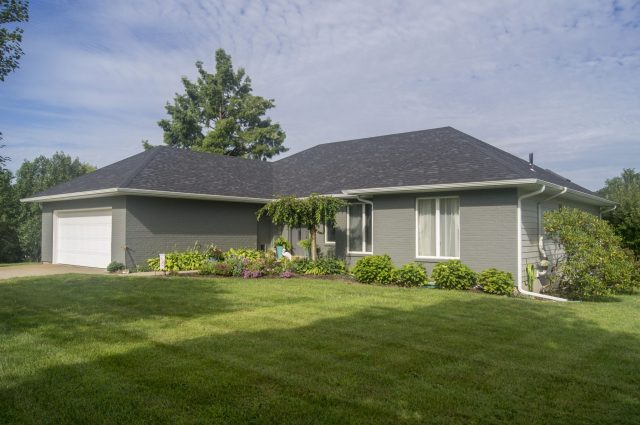 Outside view of house showing TrueSon Exteriors services.
