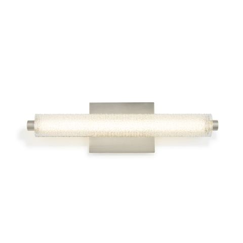 Vanity Lights   Modern Bathroom Lighting   Lights com Ronan 20  Textured Glass LED Vanity Light  Satin Nickel