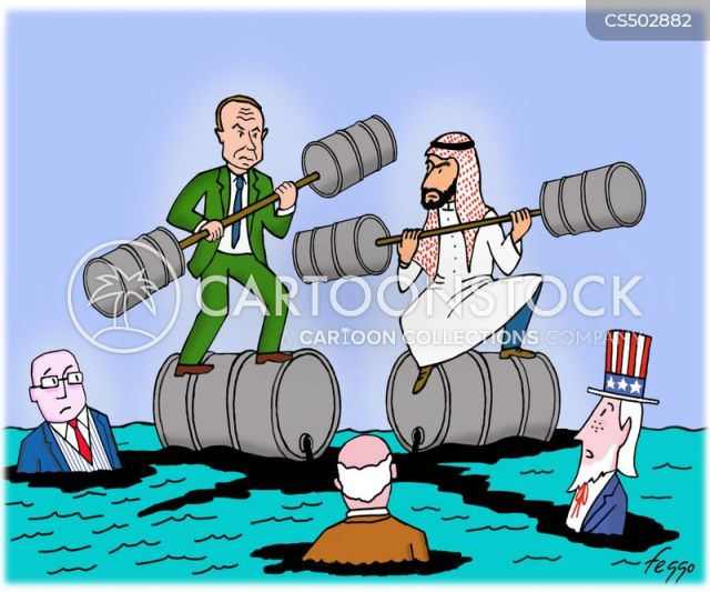 Russian Oil News and Political Cartoons